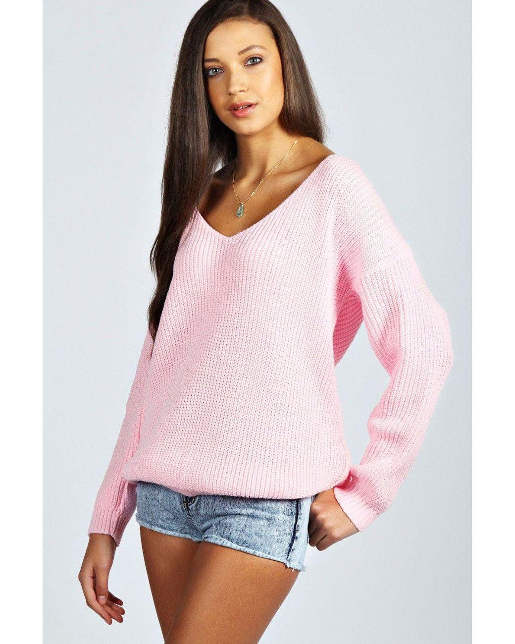 f265db55ad66 Women's Pink Sasha Oversized Wool-Blend Jumper | tops | Sweater ...