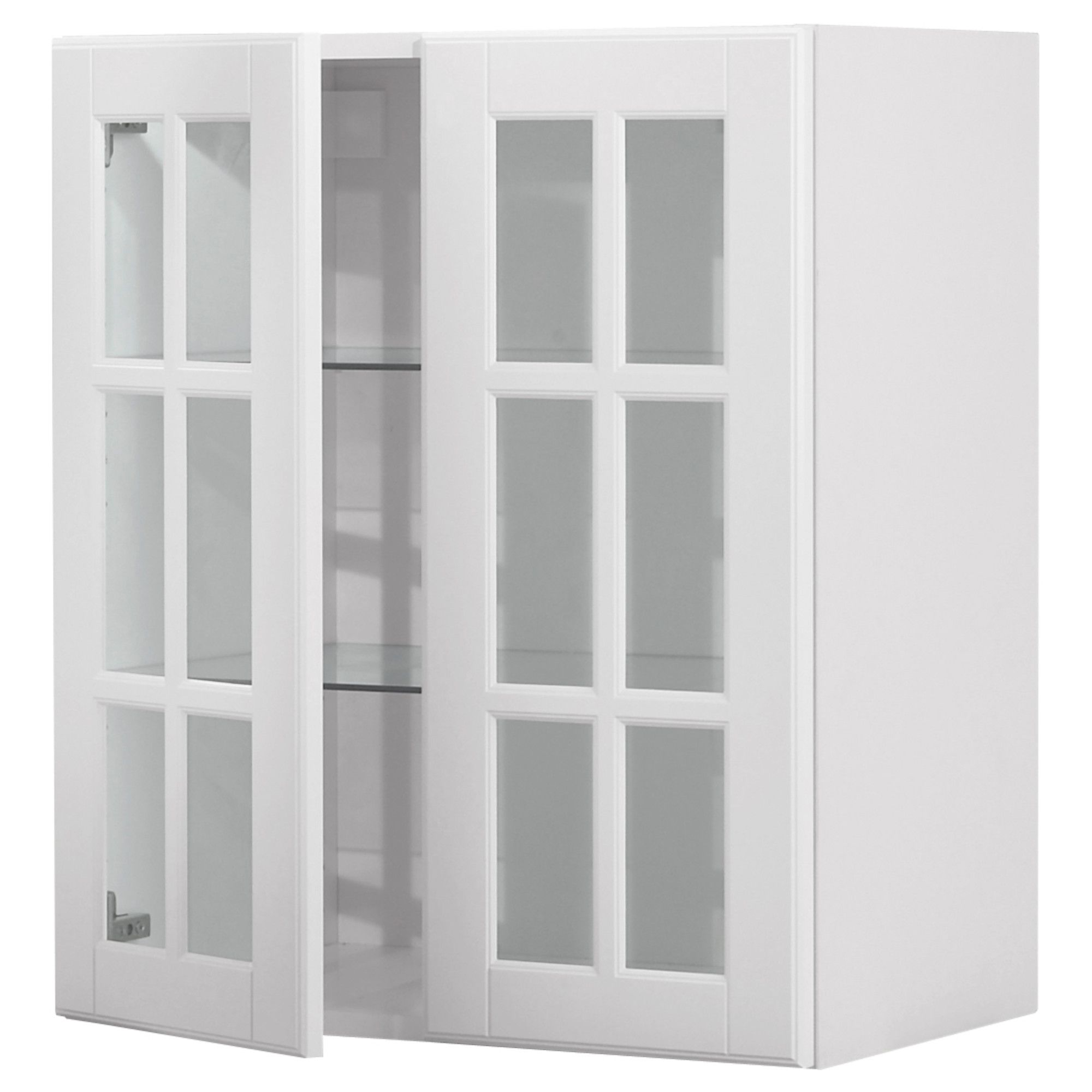 Ikea Faktum Lidingö Double Sized Akurum Wall Cabinet With 2 Glass Doors Birch