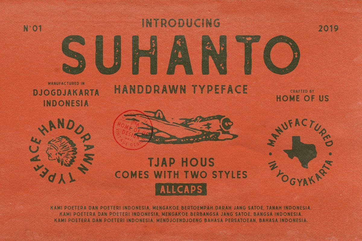 Suhanto Handdrawn Typeface Is A Font Inspired By Vintage Type With Handdrawn Feel Hope You In 2020 How To Draw Hands Typeface Create Labels