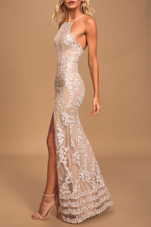 Prom Dresses Evening Dresses Formal Evening Dresses Blue Lace Maxi Dress [ 1500 x 1000 Pixel ]