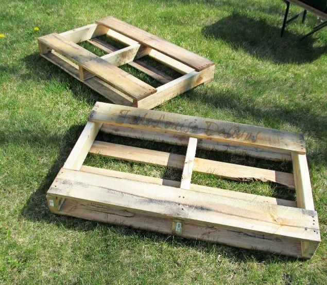 how to make a raised garden. DIY Pallet Garden; How To Make Raised Wood Garden Bed A
