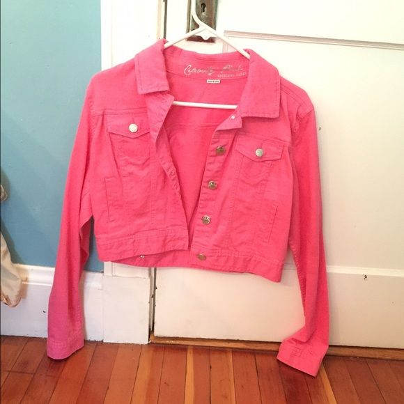 cheap price premium selection sale uk Hot Pink Jean Jacket Very Cute jean jacket worn only once ...