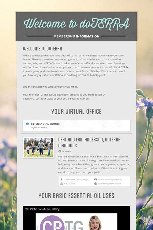 Welcome to doTERRA newsletter example Essential oils Pinterest - example news letter