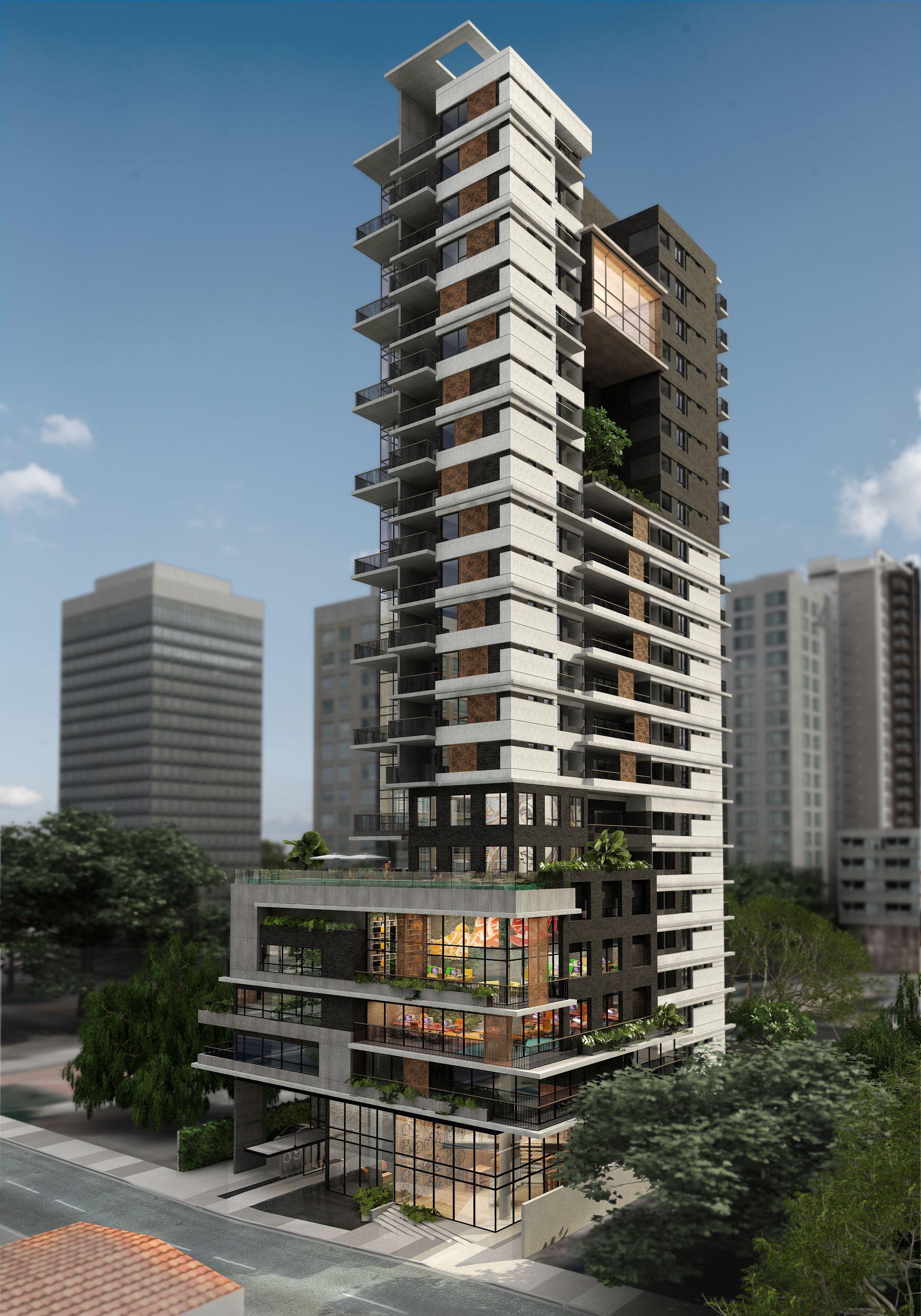 Edificios de apartamentos modernos fachadas edificios for Fachadas apartamentos modernos