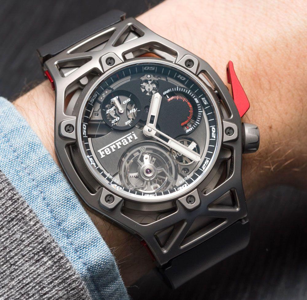 c488f000463 Hublot Techframe Ferrari 70 Years Tourbillon Chronograph Watch Hands ...
