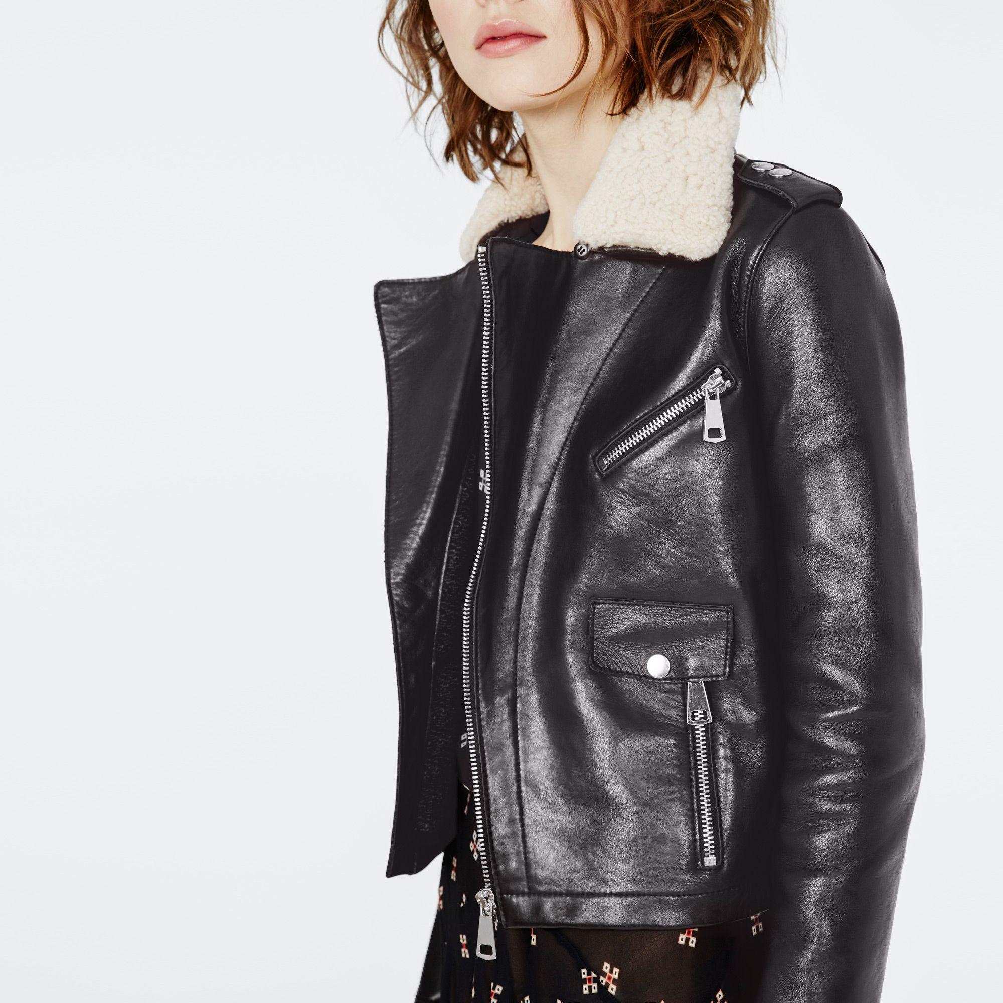 veste en cuir maje 2013 les vestes la mode sont populaires partout dans le monde. Black Bedroom Furniture Sets. Home Design Ideas