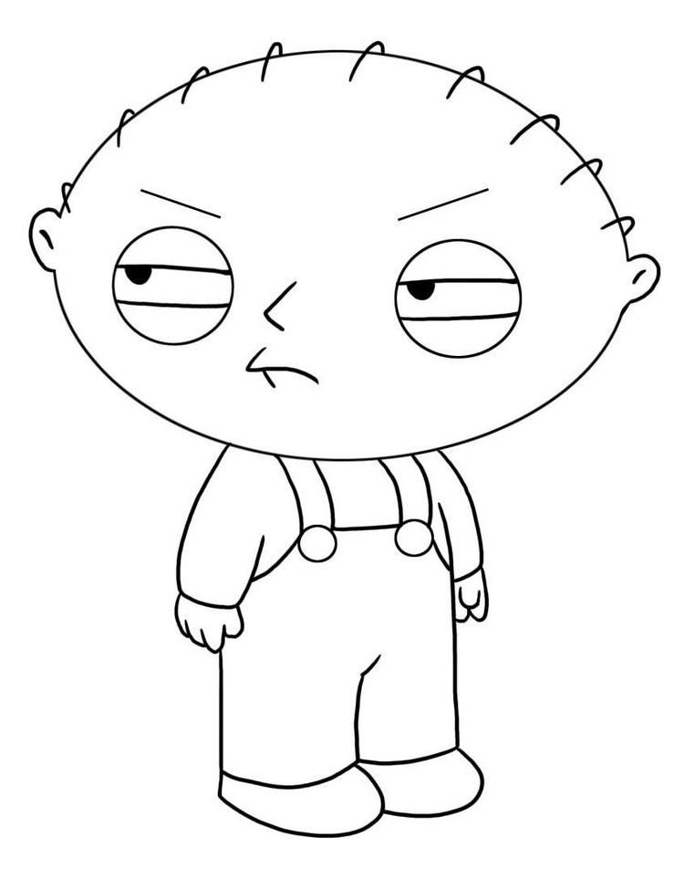 Family Guy Coloring Pages Free Easy Cartoon Drawings Cool Cartoon Drawings Cartoon Sketches