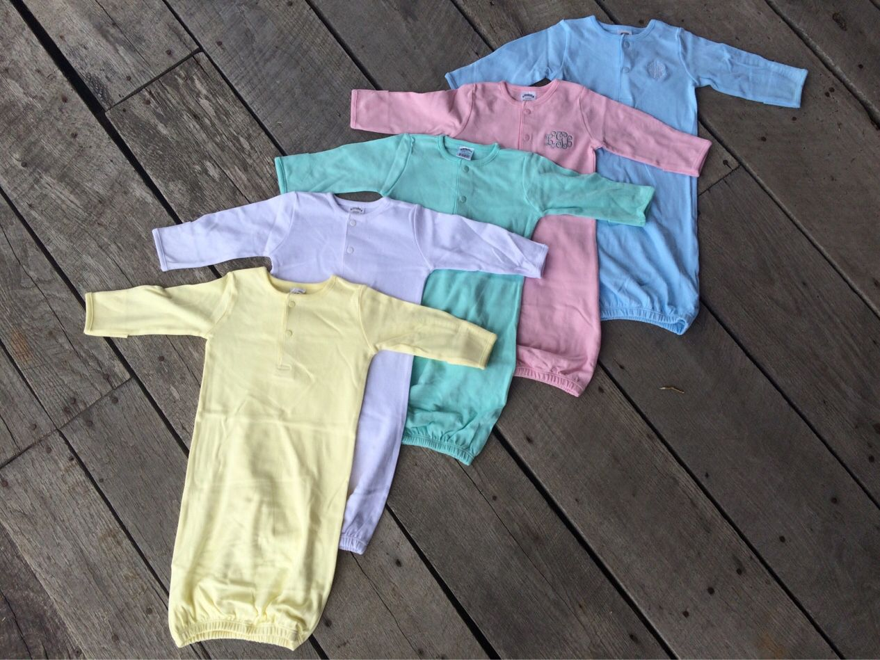 Monogrammed baby gowns only $15