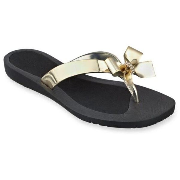 edb72995c7bf02 Guess Gold Tutu Flip Flop - Women s ( 25) ❤ liked on Polyvore featuring  shoes
