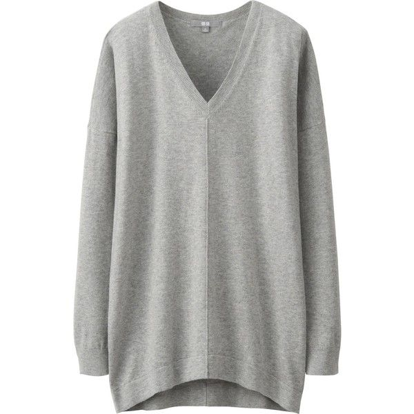 UNIQLO Cotton Cashmere Tunic (€14) ❤ liked on Polyvore featuring ...