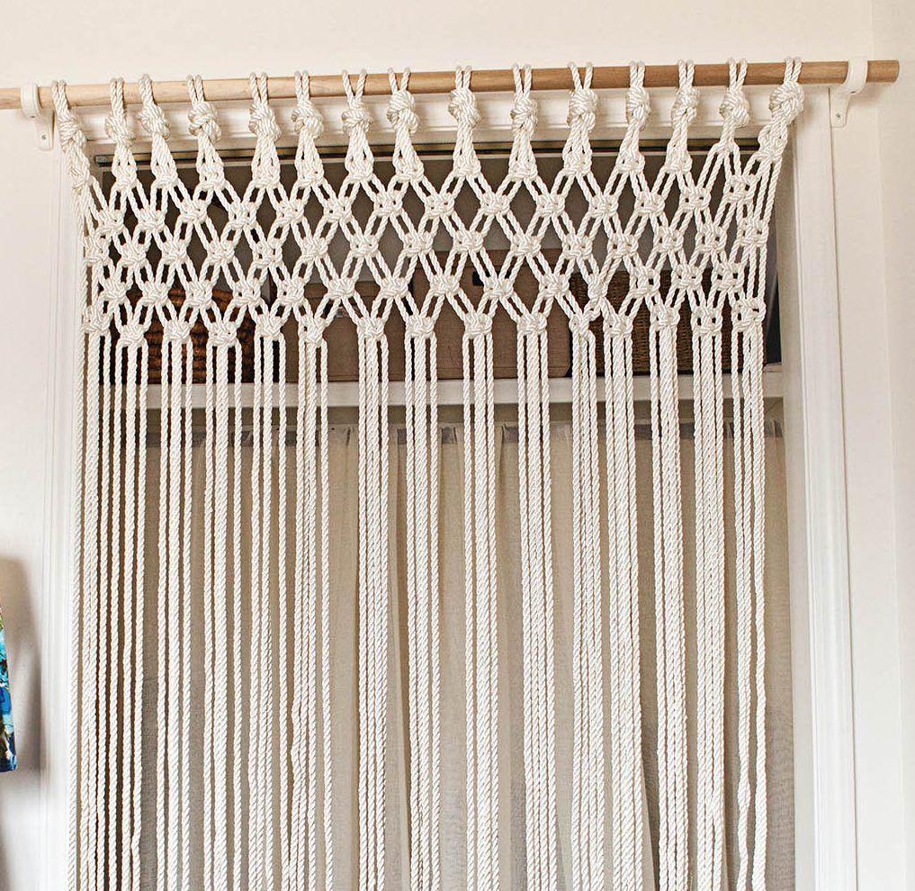 Modelos de cortinas de tela reciclada macram for Ver modelos de cortinas
