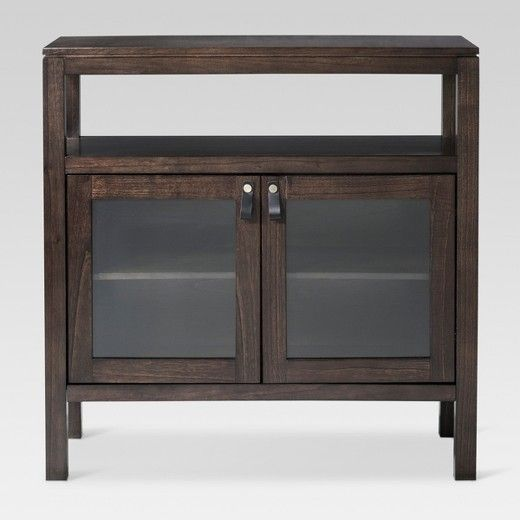 the larsen 2 door accent cabinet from threshold brings rustic rh pinterest com