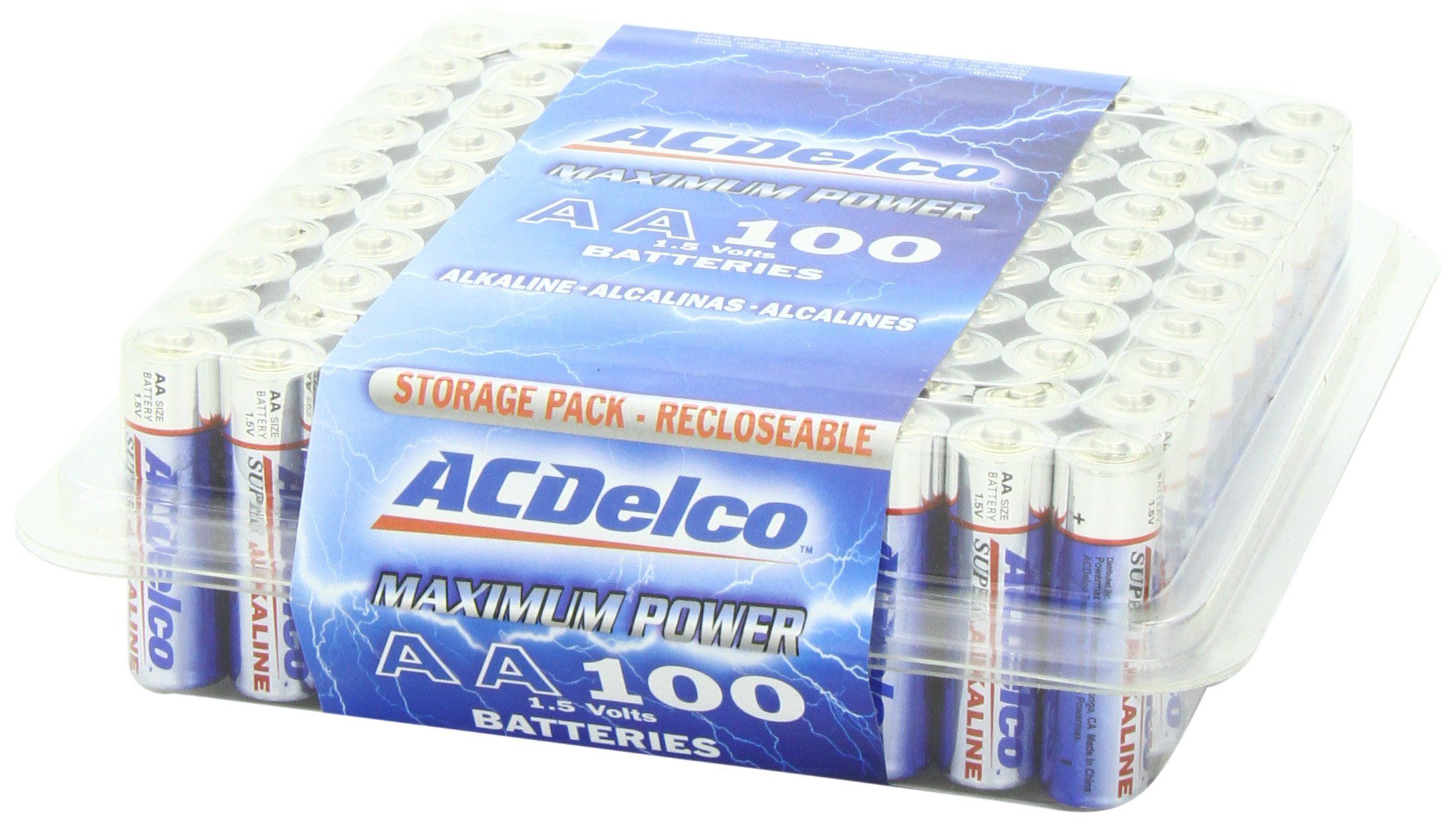 Acdelco Aa Batteries 100 Pack