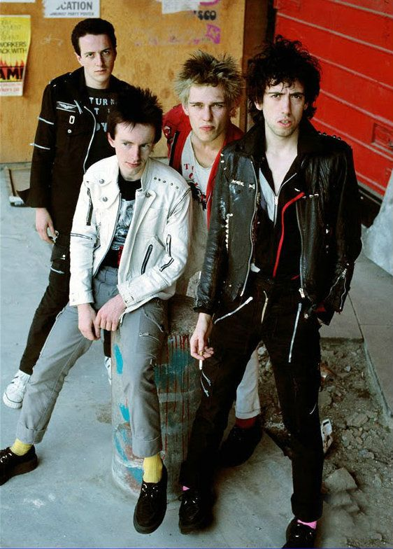The Clash photographed by Adrian Boot, 1978
