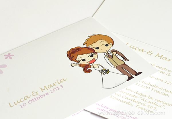 Married Couple In Comic Styl Idee Matrimonio Estivo Matrimonio Personalizzato Partecipazioni Nozze