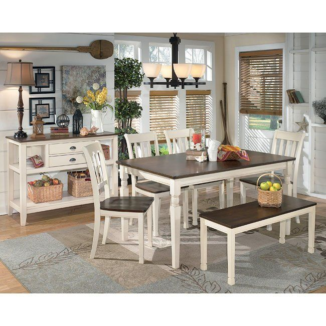 Whitesburg Dining Room Set W Bench In 2020 Dining Room Sets Dining Room Furniture Dining Room Server