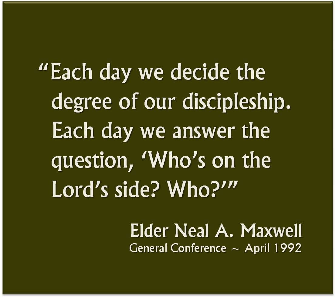 """""""Each Day We Decide The Degree Of Our Discipleship. Each"""