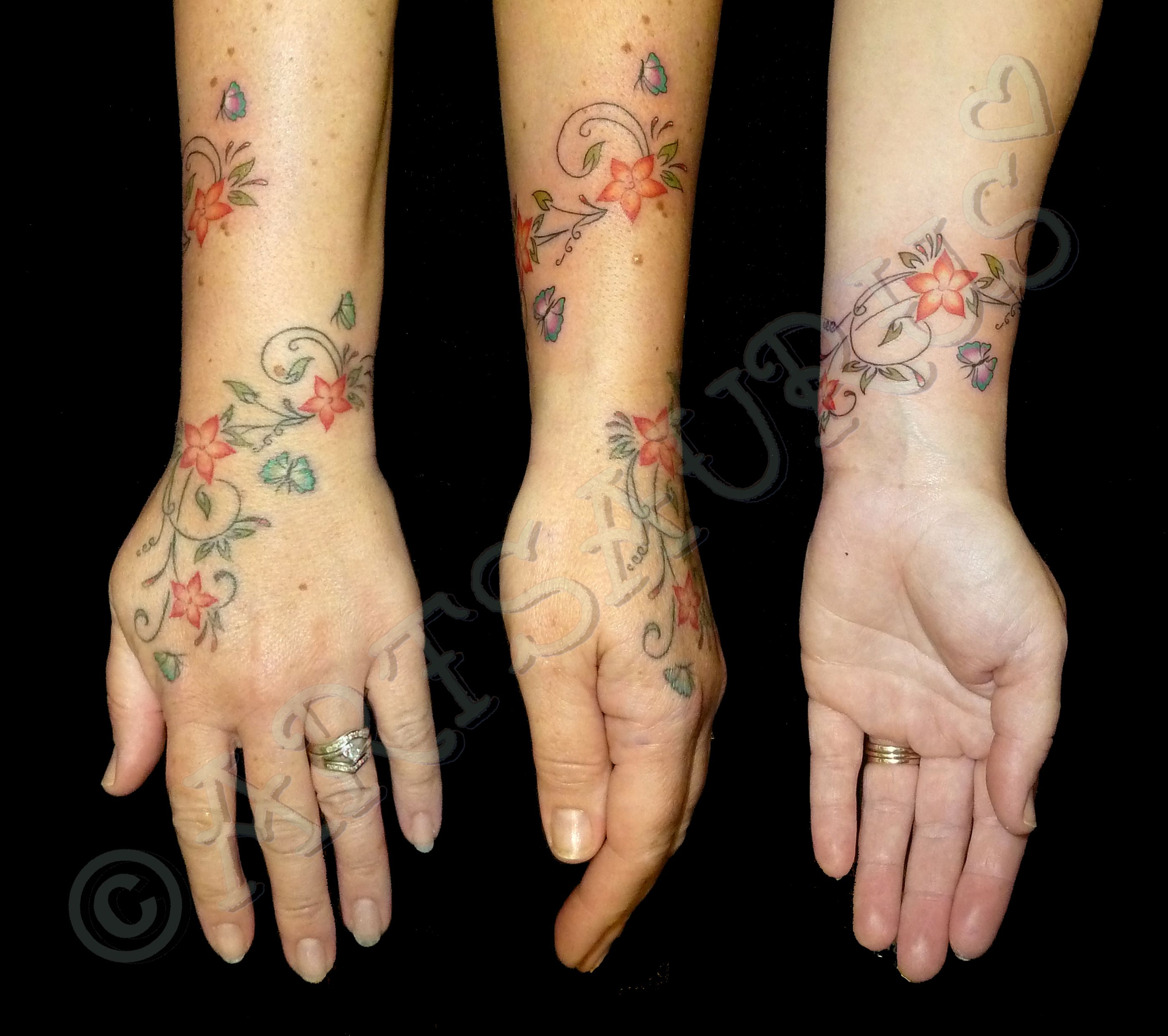 Wrist Vine Tattoos Flower: Wrist Vine Bracelet Tattoo - Google Search