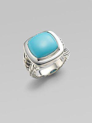 david yurman turquoise & sterling silver ring.  Love this design.
