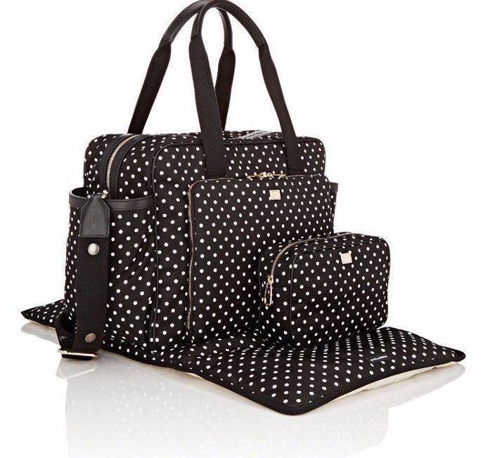 b8de93111b1 NWT DOLCE & GABBANA Black White Polka Dot Nylon Baby Diaper Bag Tote New  ($1675) #DolceGabbana #Shoulder