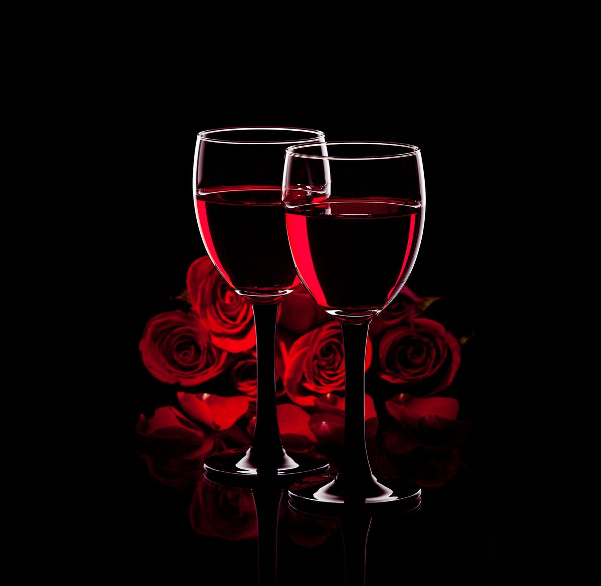 Red Wine With Roses Red Wine Wine Diamond Painting