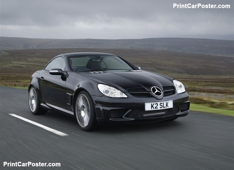 Mercedes Benz Slk 55 Amg Black Series 2007 Poster Voiture