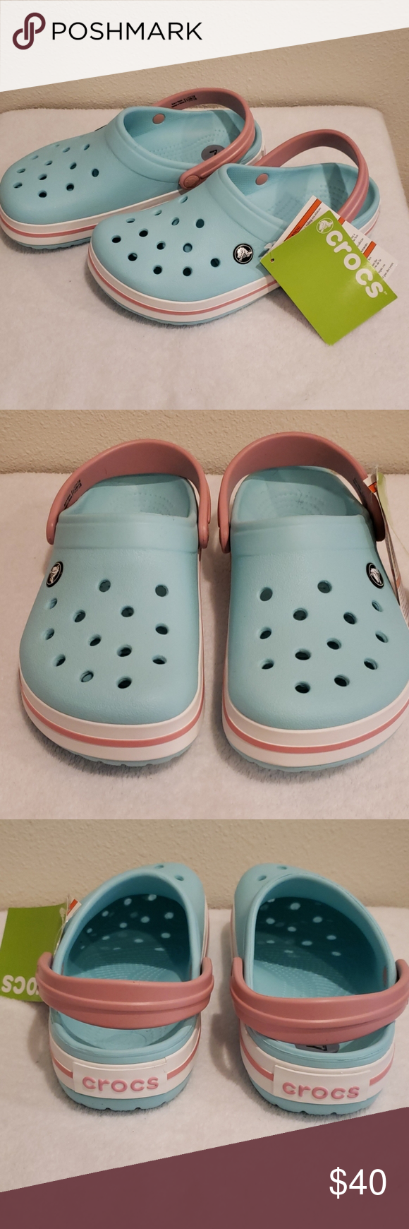 NEW CROCS CROCBAND RELAXED FIT 8 in