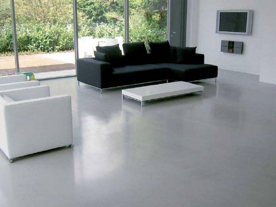 Kunstharz Bodenbelag epoxyboden in hellgrau böden ideen kunstharz