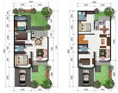 Desain Rumah  Type  36 Denah  dan Sketsa Tempat untuk