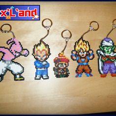 Theme Dragon Ball Z Effectue En Perles Hama Mini Perler Bead Art
