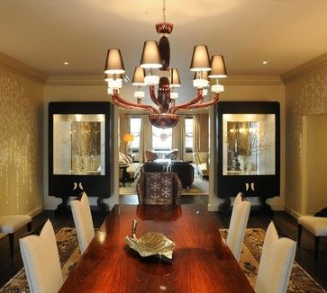 New York River House Dining Room Modern Jeffrey Brooks Interior Design