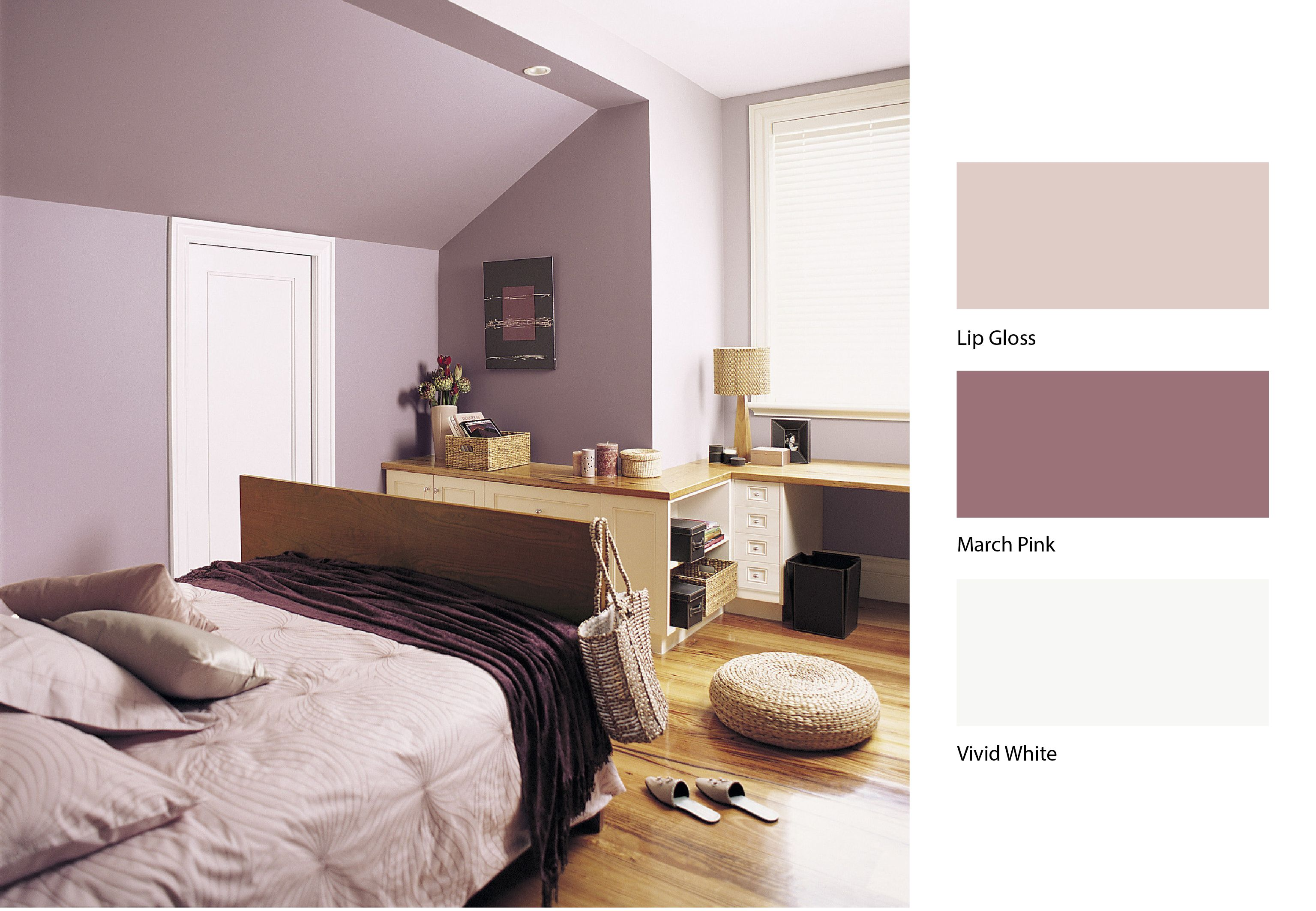 Dusty pinks can have a great calming effect on any room dulux paint bedroom colours for Dulux colour schemes for living rooms
