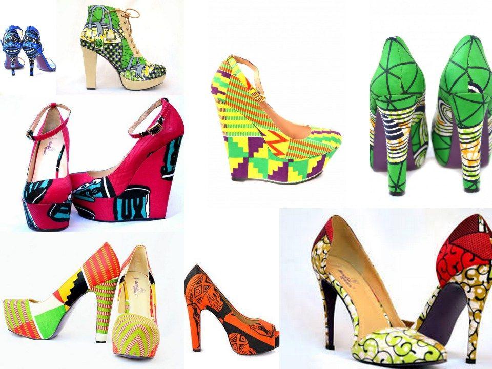 Créateur de chaussures en wax bien sûr! chez Buqisi Ruux