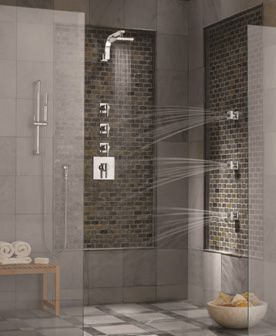 Three Jet Spa Panel Shower System  For Your Spa Bathroom
