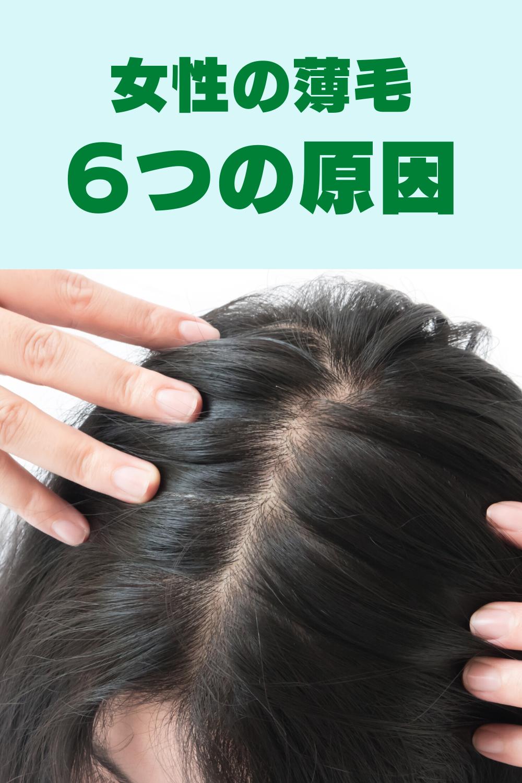 女性の薄毛 6つの原因と対策 薄毛 女性 髪の育毛 抜け毛 女性