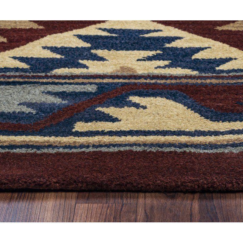 Runner Eastman Southwestern Hand Tufted Wool Brown Blue Area Rug Rugs Blue Area Rugs Rug Direct