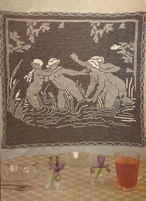 "Patrón #9 Panel Decorativo a Crochet ""Las Bañistas"" #crochet  http://blgs.co/m6D_L1"