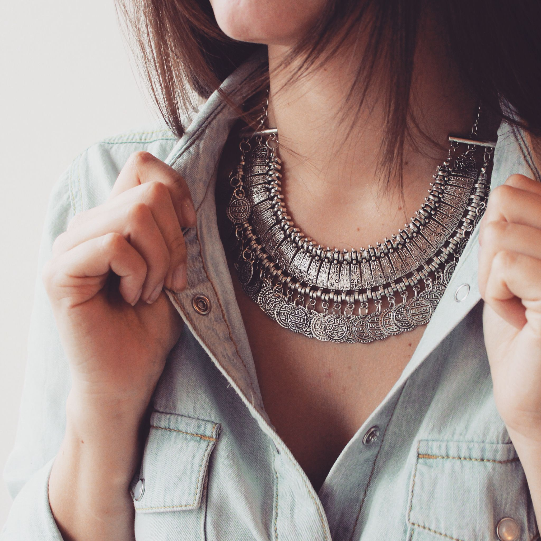 Silver coin necklace from @HugoSophia