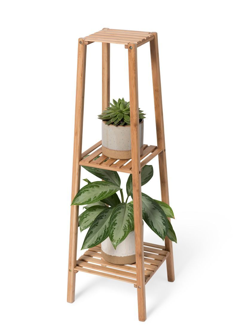 Bamboo 3-Tier Plant Stand | Gardener's Supply | New home decor in