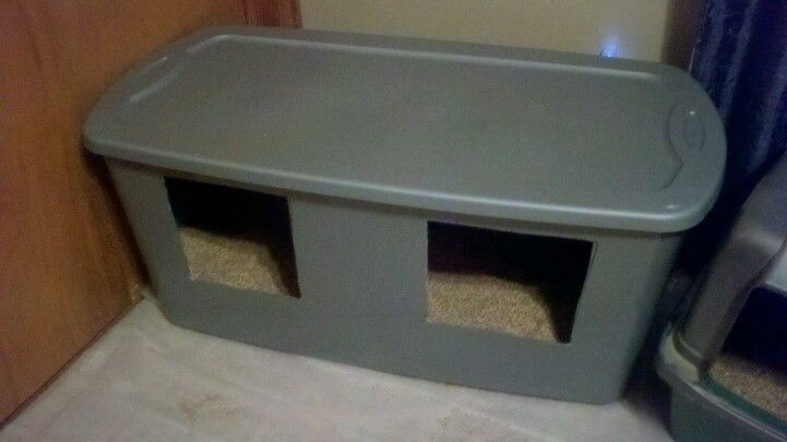 I Was Tired Of Looking For An Extra Large Litter Box For A Decent Price Cheapest One I Could Find Was Around Litter Box Cat Litter Box Hiding Cat Litter Box