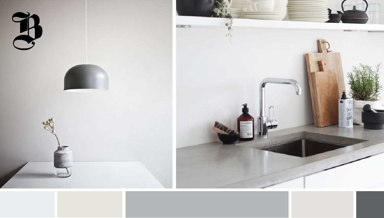 Concrete as a counter option. Spotted at Grand Designs Live 2015, we saw concrete tiles, waterproofed concrete sinks and composite resins that re-enact the look and feel of concrete, but are durable for kitchen surfaces and counter tops.