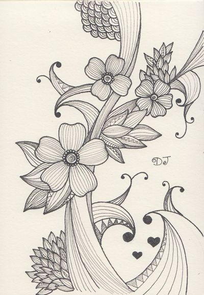 Doodle Art Sketch Draw Patterns Zentangle Drawings