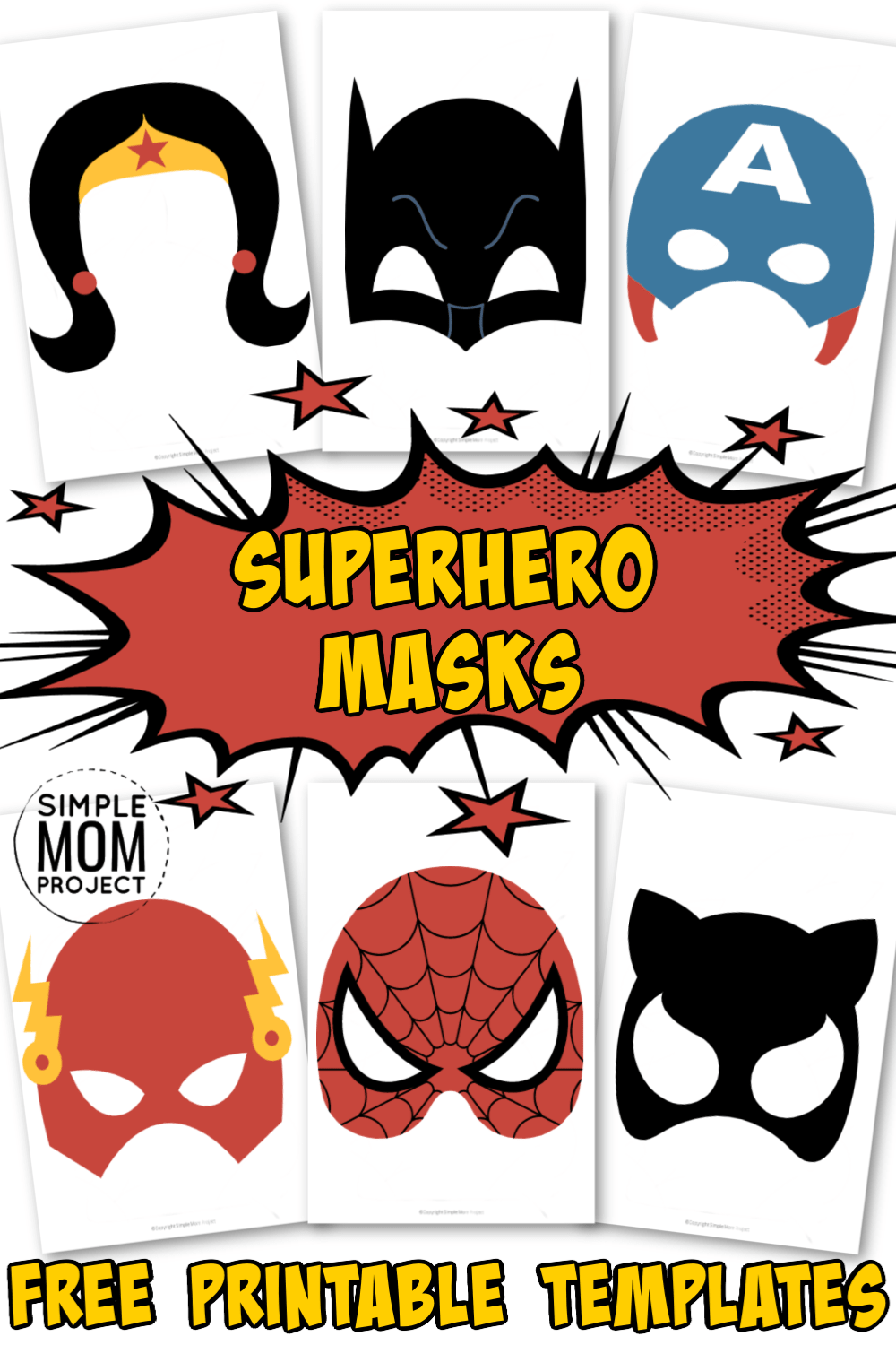 Superhero Masks for Kids with FREE Printable Templates - Simple Mom Project