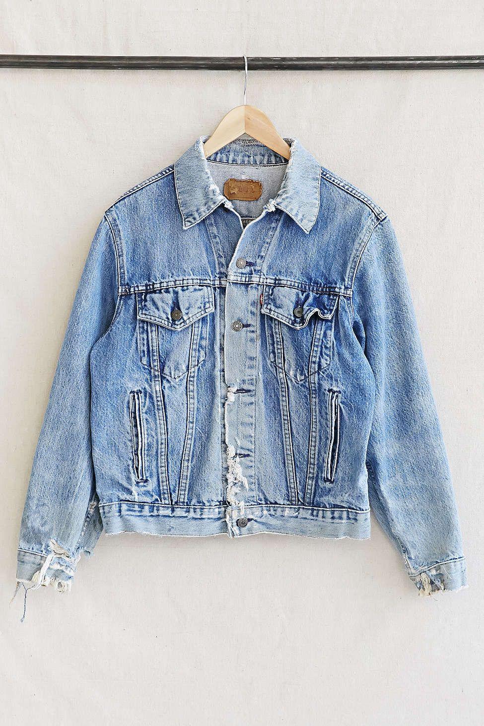 Vintage Levis Denim Jacket Uodenim Pinterest Jackets Skin Rip Off Stretch Soft Jeans Urban Outfitters