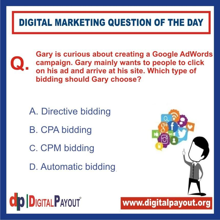 Question Of The Day Digital Payout Internet Marketing Course Digital Marketing Training Marketing Techniques