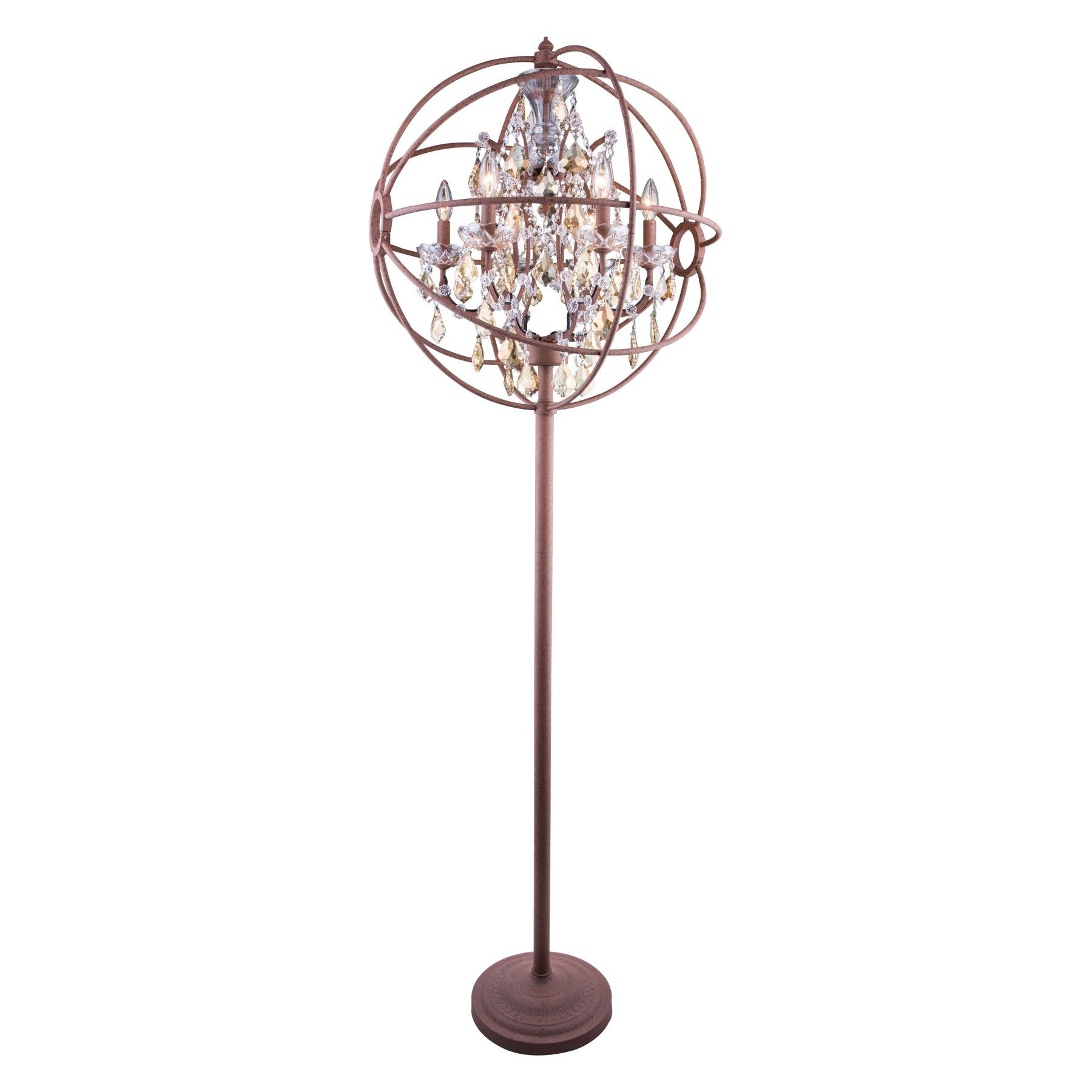 Elegant Lighting Geneva 1130 Floor Lamp 1130FL24PN RC