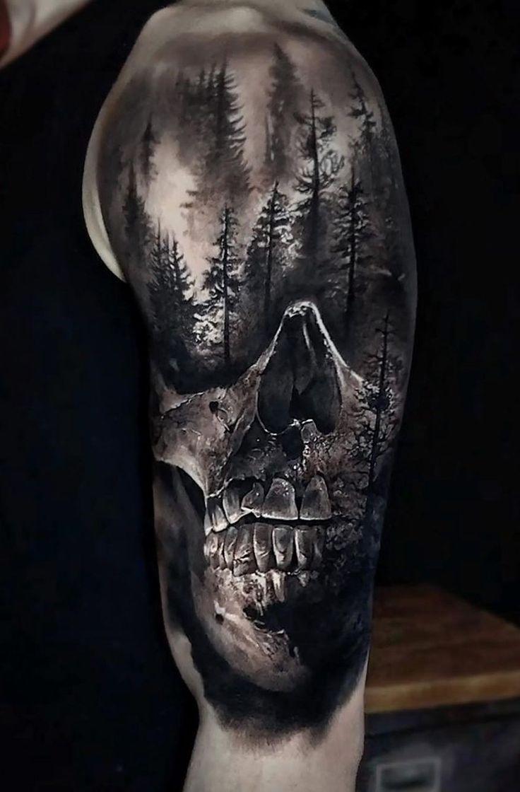 46++ Awesome Forearm skull tattoos designs image ideas
