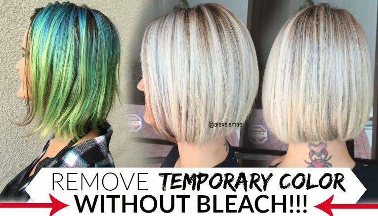 How To Remove Temporary Hair Colors Like Pravana Manic Panic Without Damage Hair Color Remover Manic Panic Hair Color Temp Hair Color