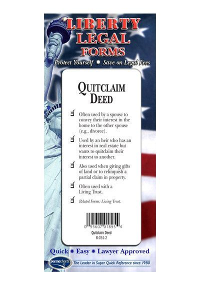 Quitclaim Deed Form Legal Forms Kit - USA Quitclaim deed - quit claim deed form