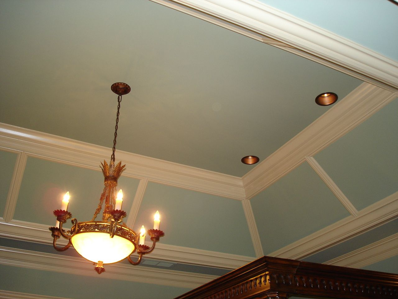 Without The Vertical Pieces Of Moulding   And Note The Canned Lighting · Tray  CeilingsCeiling ... Part 67